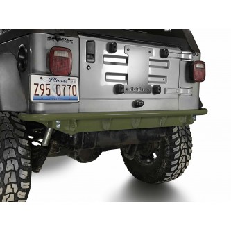 Fits Jeep Wrangler TJ 1997-2006.  Rear Bumper.  Locas Green.  Made in the USA.