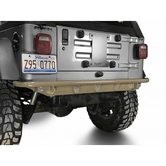 Fits Jeep Wrangler TJ 1997-2006.  Rear Bumper.  Military Beige.  Made in the USA.