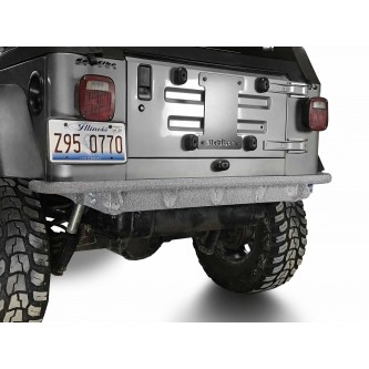 Fits Jeep Wrangler TJ 1997-2006.  Rear Bumper.  Gray Hammertone.  Made in the USA.
