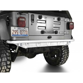 Fits Jeep Wrangler TJ 1997-2006.  Rear Bumper.  Cloud White.  Made in the USA.