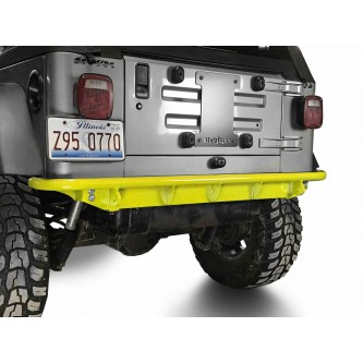 Fits Jeep Wrangler TJ 1997-2006.  Rear Bumper.  Neon Yellow.  Made in the USA.