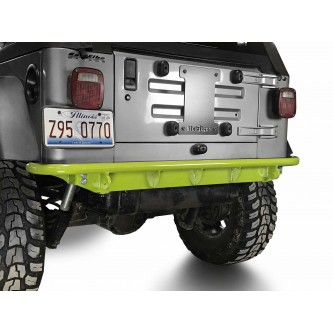 Fits Jeep Wrangler TJ 1997-2006.  Rear Bumper.  Gecko Green.  Made in the USA.
