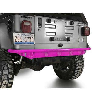 Fits Jeep Wrangler TJ 1997-2006.  Rear Bumper.  Hot Pink.  Made in the USA.