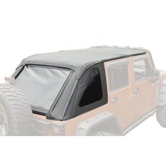 * Open Box * Bowless Soft Top Black Diamond for Jeep Wrangler JK Unlimited 2007-2018 4Door