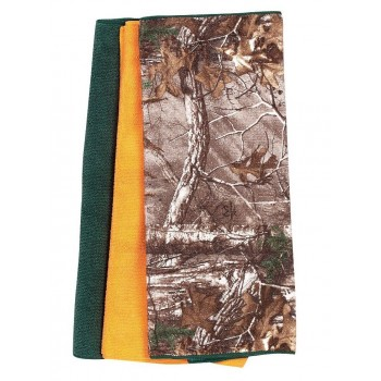 Realtree Mircofiber towel (Pack of 3/Realtree, Orange and Green). 14.5 x 23 inches