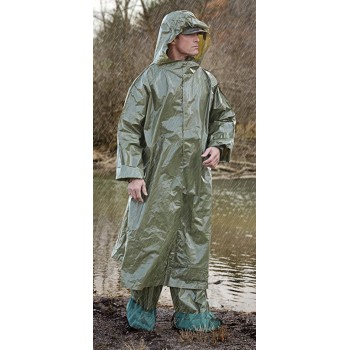 European Chemical Poncho 5 piece set (includes 1 poncho, 2 gloves, 2 boot style covers)