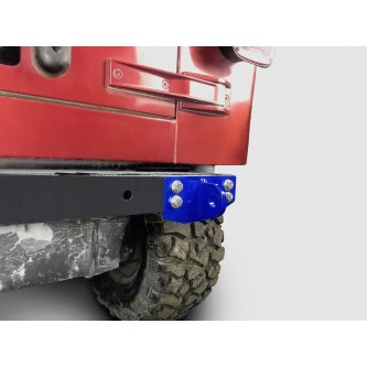 Fits Jeep Wrangler TJ 1997-2006.  Rear D-Ring Mount Bumperette.  Southwest Blue.  Made in the USA.