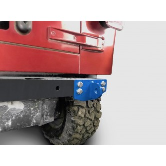 Fits Jeep Wrangler TJ 1997-2006.  Rear D-Ring Mount Bumperette.  Playboy Blue.  Made in the USA.