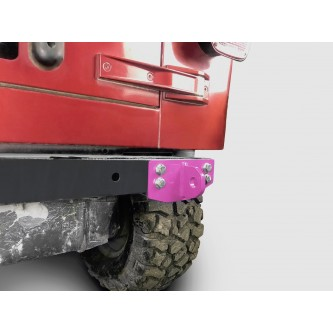 Fits Jeep Wrangler TJ 1997-2006.  Rear D-Ring Mount Bumperette.  Pinky.  Made in the USA.