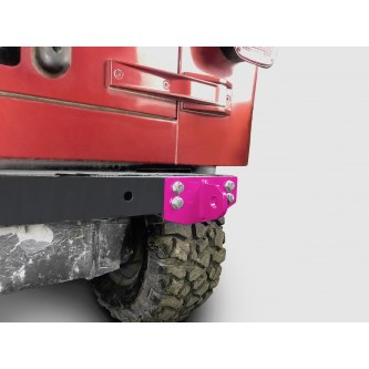 Fits Jeep Wrangler TJ 1997-2006.  Rear D-Ring Mount Bumperette.  Hot Pink.  Made in the USA.