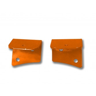 Fits Jeep JK 2007-2018, Universal Lower Windshield Light Mount, Fluorescent Orange.  Made in the USA. Lights not included. Made in the USA.