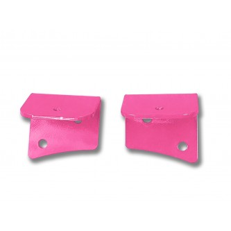 Fits Jeep JK 2007-2018, Universal Lower Windshield Light Mount, Hot Pink.  Made in the USA. Lights not included. Made in the USA.