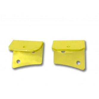 Fits Jeep JK 2007-2018, Universal Lower Windshield Light Mount, Lemon Peel.  Made in the USA. Lights not included. Made in the USA.