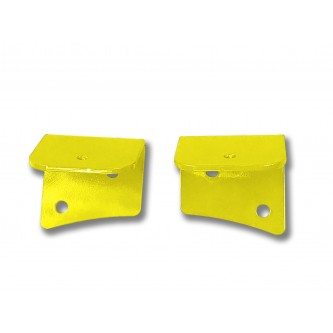 Fits Jeep JK 2007-2018, Universal Lower Windshield Light Mount, Neon Yellow.  Made in the USA. Lights not included. Made in the USA.