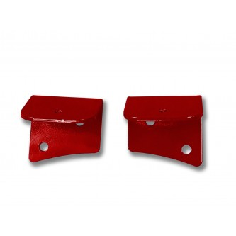 Fits Jeep JK 2007-2018, Universal Lower Windshield Light Mount, Red Baron.  Made in the USA. Lights not included. Made in the USA.