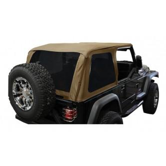 Bowless Soft Top Spice Diamond w/ Tint Jeep Wrangler TJ 1997-2006 BRT10037