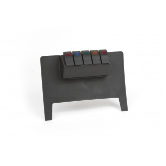 Daystar Jeep Accessories Lower Switch Panel; Black, 11-18 Jeep JK Lower Switch Panel ( Automatic Trans)