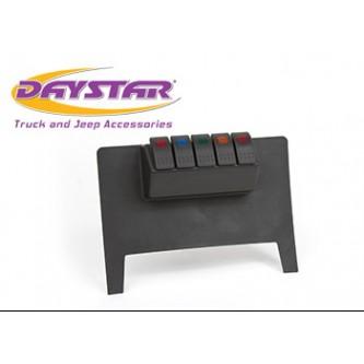 Daystar Jeep Accessories Lower switch panel with (4) Rocker Switches, 11-18 Jeep JK Lower switch panel with (4) Rocker switches; Black