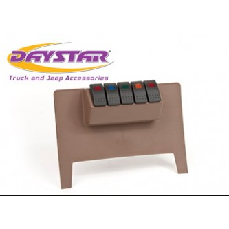 Daystar Jeep Accessories Lower switch panel with (4) Rocker switches, 11-18 Jeep JK Lower switch panel with (4) Rocker switches; Tan