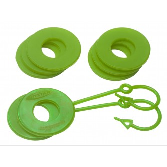 Daystar Winch & Recovery Accessories D Ring Isolator Washer Locker Kit (2 Locking Washers and 2 Non-Locking Washers) Fluorescent Green, D Ring Isolator Washer Locker Kit (2 Locking Washers and 2 Non-Locking Washers) Fluorescent Green