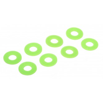 Daystar Winch & Recovery Accessories D-RING / SHACKLE WASHERS (SET OF 8); Fl. Green, D-RING / SHACKLE WASHERS (SET OF 8); Fl. Green