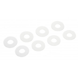 Daystar Winch & Recovery Accessories D-RING / SHACKLE WASHERS (SET OF 8);White, D-RING / SHACKLE WASHERS (SET OF 8);White