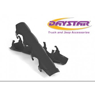 Daystar Shock Boots Universal Shock and Steering Stabilizer Armor; Pair; Black; Includes Mounting Rings, Shock Armor; Black
