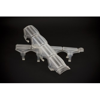 Daystar Shock Boots Universal Shock and Steering Stabilizer Armor; Pair; Clear; Includes Mounting Rings, Shock Armor; Clear