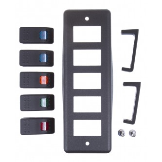 Daystar Interior Products Switch Pod; Roll Bar Mount with (5) Switches, Switch Pod; Roll Bar Mount with (5)Switches