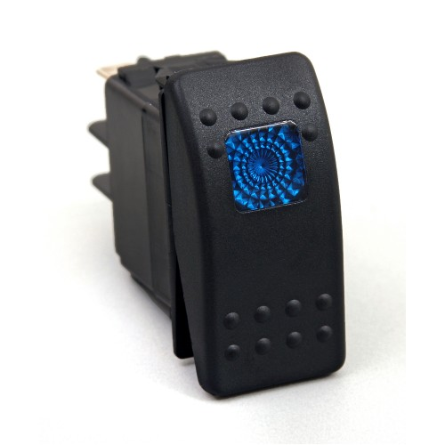 Daystar Jeep Accessories ROCKER SWITCH - BLUE LIGHT; 20 AMP; Single POLE, ROCKER SWITCH; BLUE