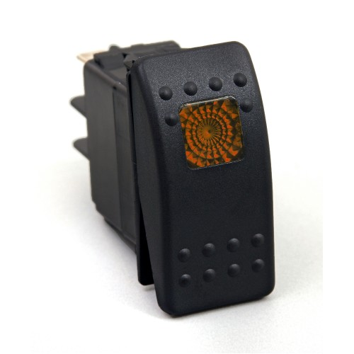 Daystar Jeep Accessories ROCKER SWITCH - AMBER LIGHT; 20 AMP; Single POLE, ROCKER SWITCH; AMBER