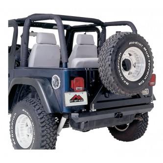 Roll Bar Pad Kit Black Denim for Jeep Wrangler YJ 1992-1995 Rough Trail RB10115