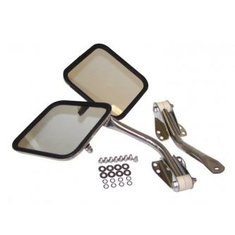 Stainless Steel Mirror Kit for Jeep CJ5 CJ6 CJ7 CJ8 Wrangler 1955-95 RT30003