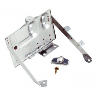 Battery Tray Kit Stainless Jeep CJs 1976-1986 Rough Trail RT34020