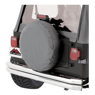 Tire Cover Gray 27-29 Inch Tires Jeep CJ Wrangler Rough Trail TC272909