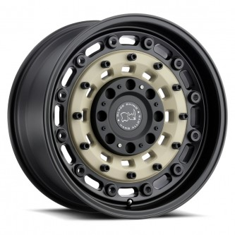 Black Rhino Arsenal 17x9.5 5/139.7 Et00 Cb78.1 Sand On Black Wheel