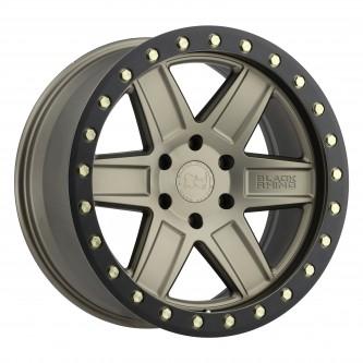 Black Rhino Attica 17x9.0 5/139.7 Et00 Cb78.1 Matte Bronze W/Black Lip Edge And Br Wheel