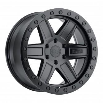 Black Rhino Attica 17x9.0 5/139.7 Et00 Cb78.1 Matte Black W/Black Bolts Wheel