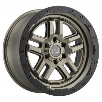 Black Rhino Barstow 17x9.5 5/139.7 Et00 Cb78.1 Matte Bronze W/Matte Black Ring Wheel