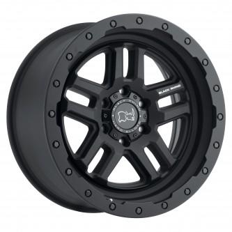 Black Rhino Barstow 17x9.5 5/139.7 Et00 Cb78.1 Textured Matte Black Wheel