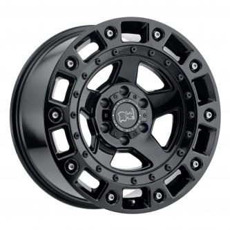 Black Rhino Cinco 17x9.5 5/139.7 Et00 Cb78.1 Gloss Black W/Stainless Bolt Wheel