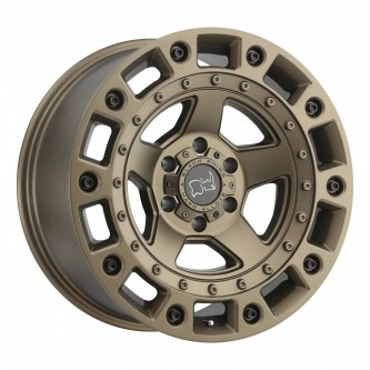 Black Rhino Cinco 17x9.5 6/139.7 Et-18 Cb112.1 Bronze W/Black Bolts Wheel