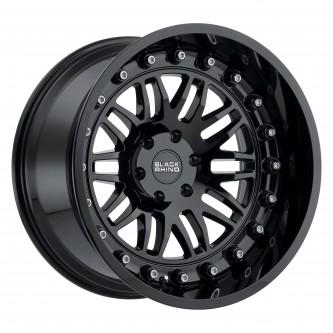 Black Rhino Fury 17x9.5 6/139.7 Et-18 Cb112.1 Gloss Black Wheel