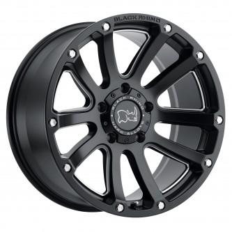 Black Rhino Highland 17x9.5 5/139.7 Et00 Cb78.1 Matte Black W/Milled Windows Wheel