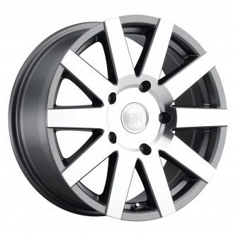 Black Rhino Journey 17x7.5 6/139.7 Et35 Cb112.1 Gloss Gunmetal W/Mirror Cut Face Wheel